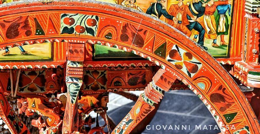 Carretto siciliano, simbolo dell'arte popolare.