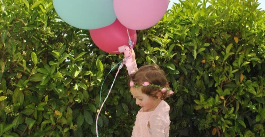 Un party in giardino per la piccola Virginia